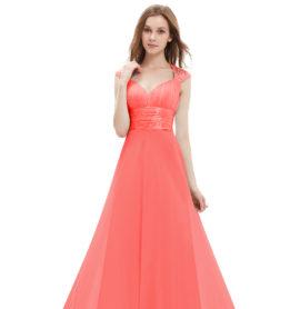 Společenské šaty dlouhé, korálové