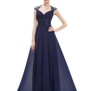 Společenské šaty dlouhé, námořnicky modré