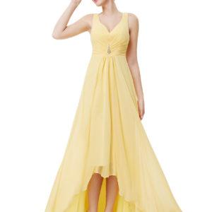 Společenské šaty dlouhé, žluté