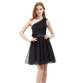 Společenské šaty krátké, černé