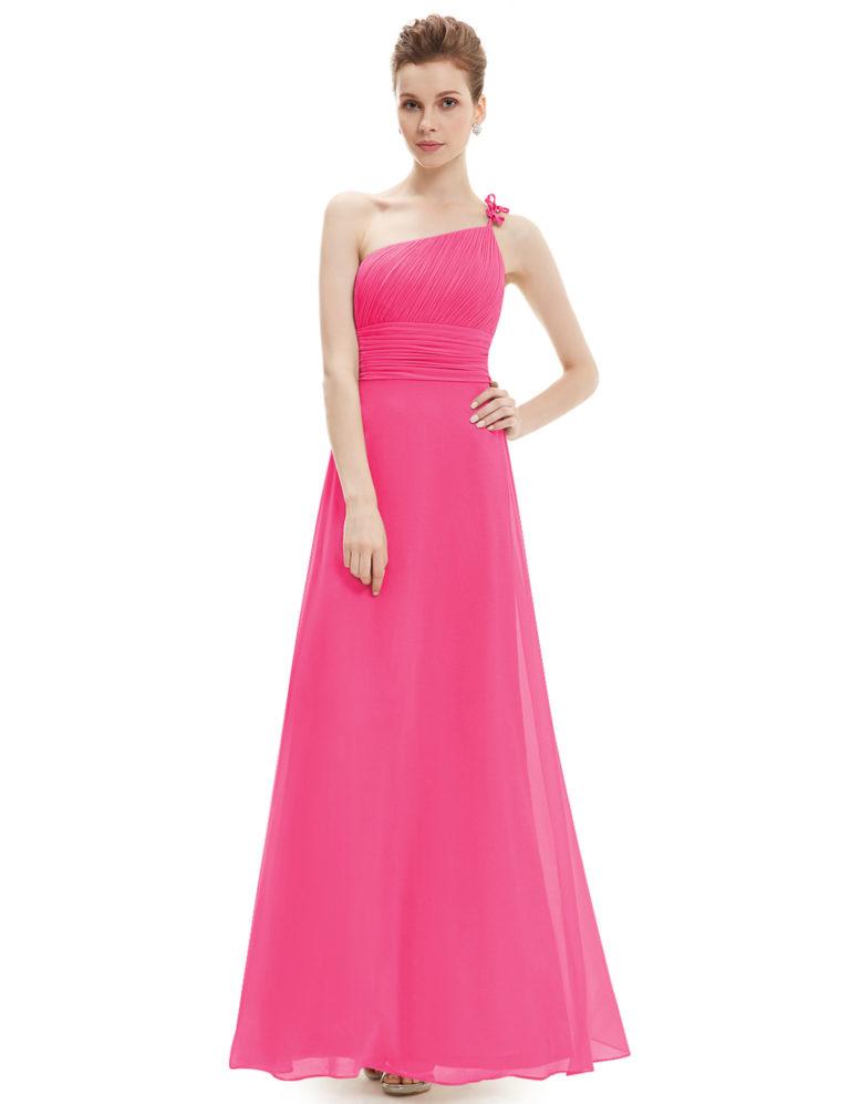 Společenské šaty dlouhé, sytě růžové