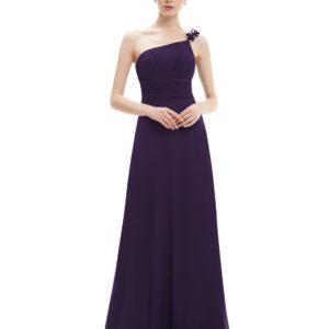 Společenské šaty dlouhé, tmavě fialové