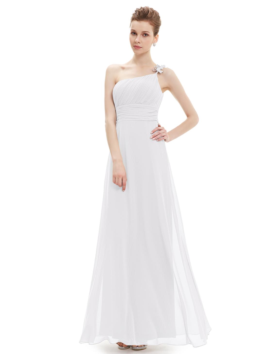 Společenské šaty dlouhé, bílé