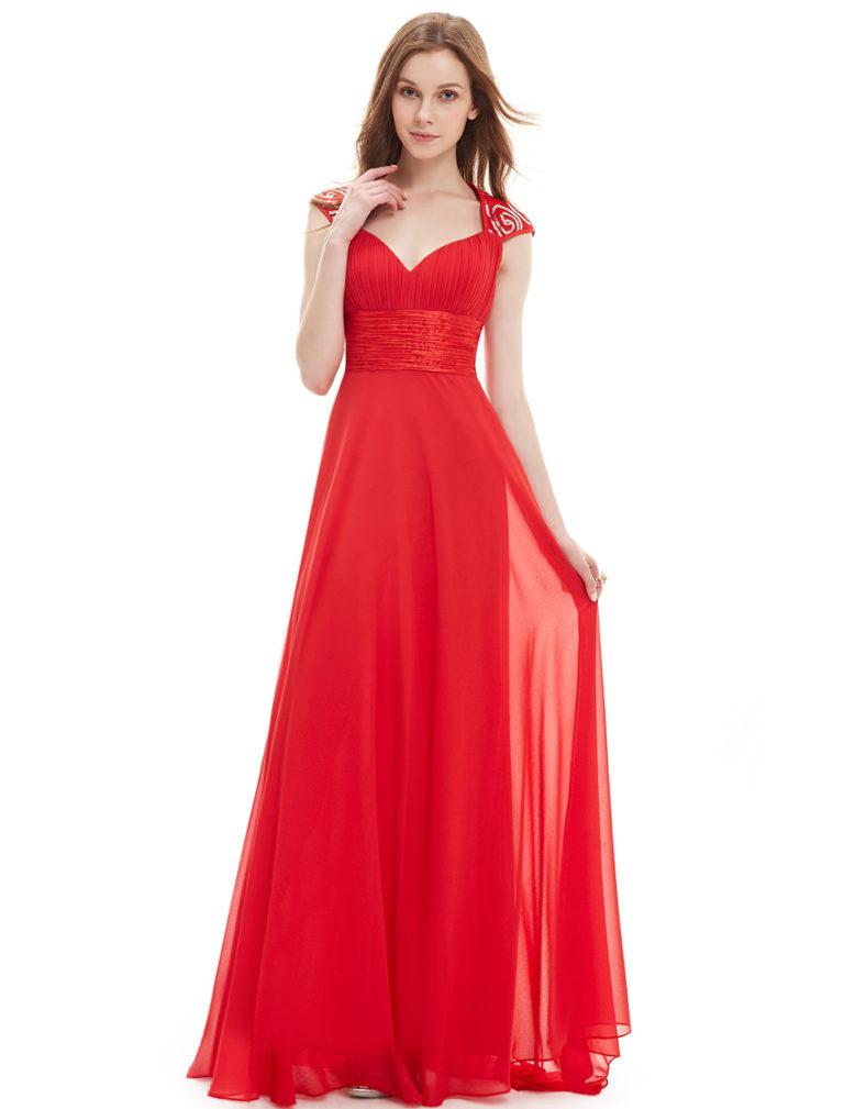Společenské šaty dlouhé, červené