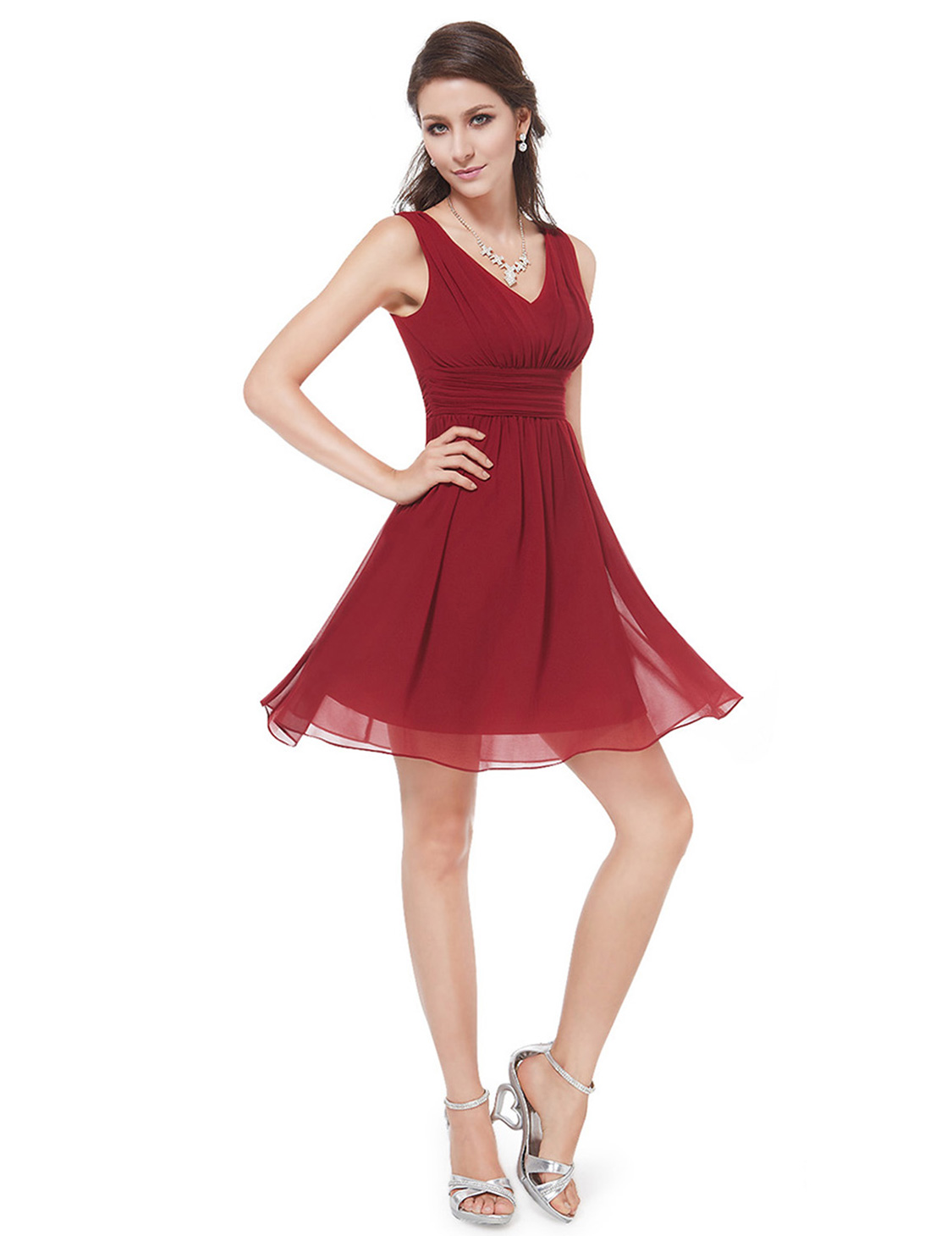 Společenské šaty krátké, červené