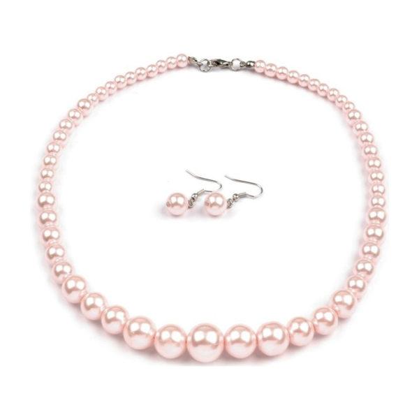 Náhrdelník a náušnice, voskované perly