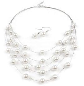 Náhrdelník a náušnice s perlami