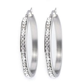 Náušnice kruhy s broušenými kamínky