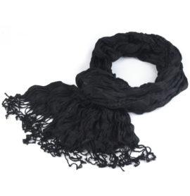 Mačkaný šátek s třásněmi