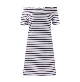 Letní šaty krátké, pruhované