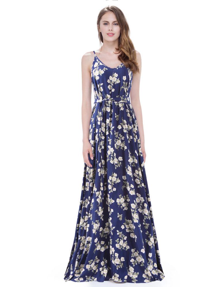 Letní šaty dlouhé, barevné