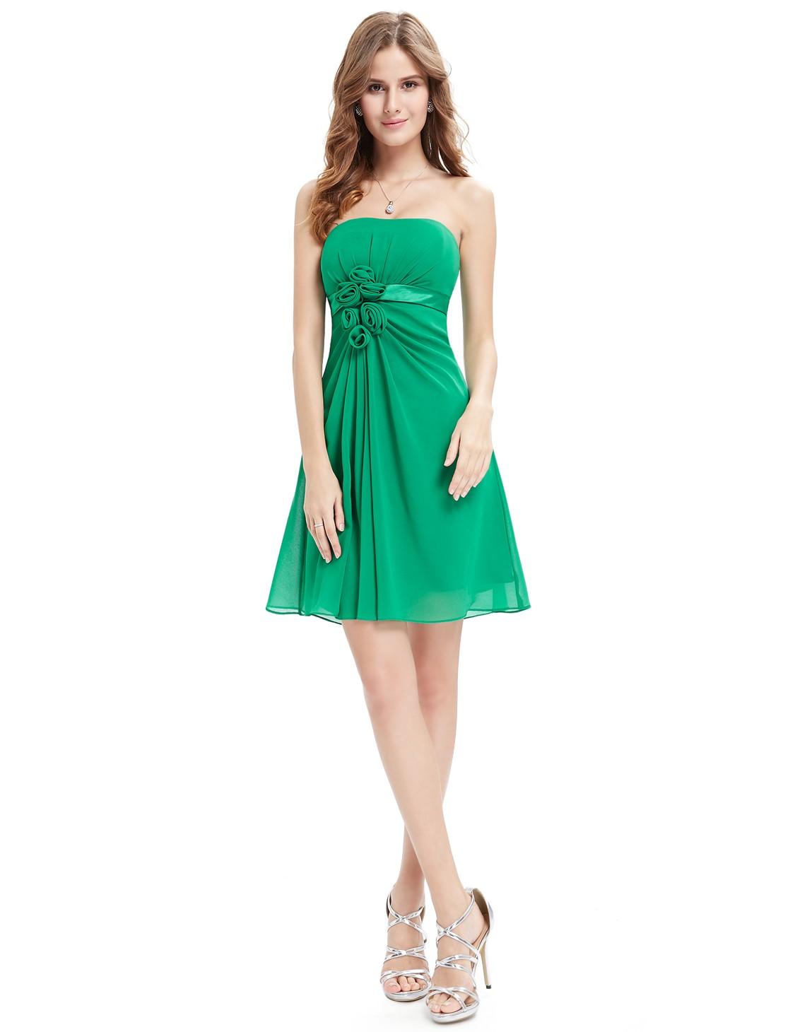 Společenské šaty krátké, zelené