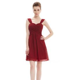 Společenské šaty krátké, vínové