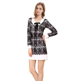 Letní šaty krátké, černobílé