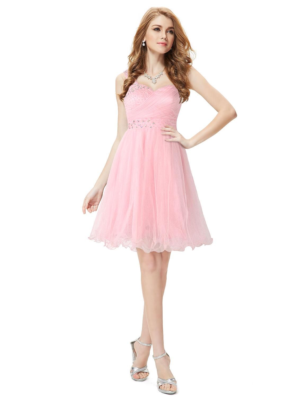 Společenské šaty krátké, růžové
