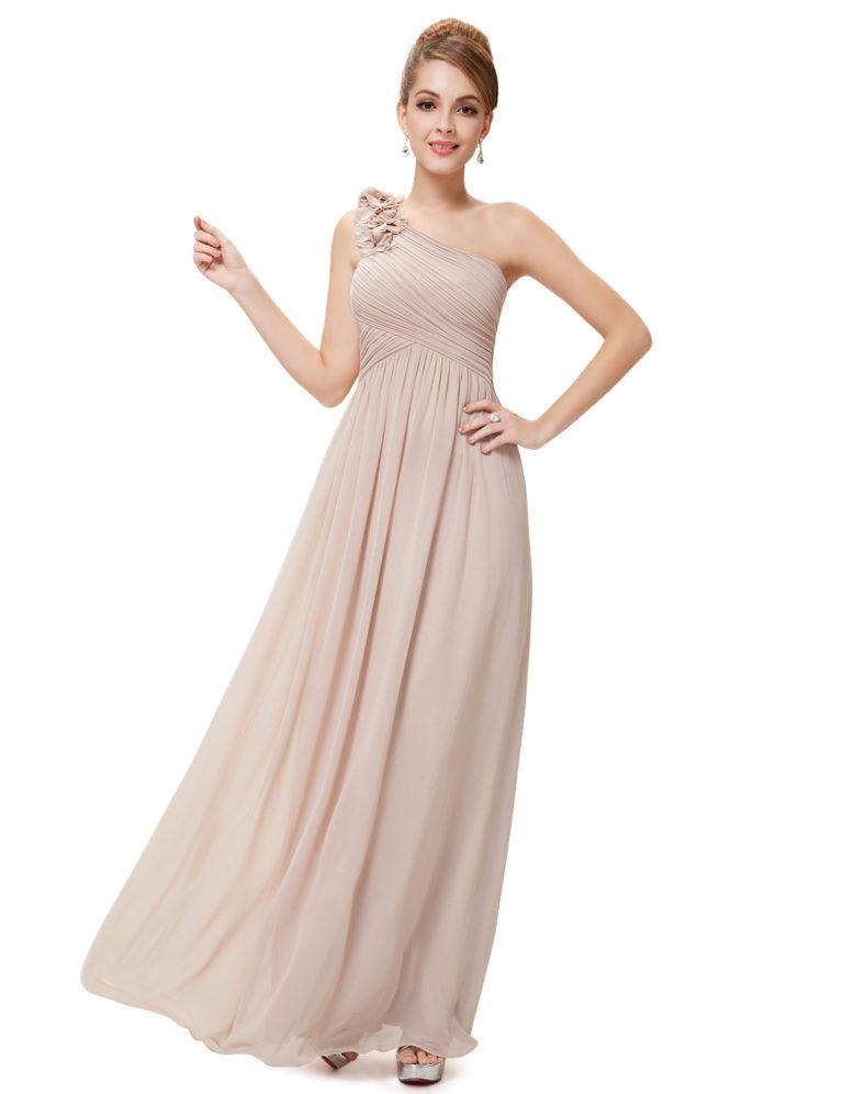 Společenské šaty dlouhé, béžové