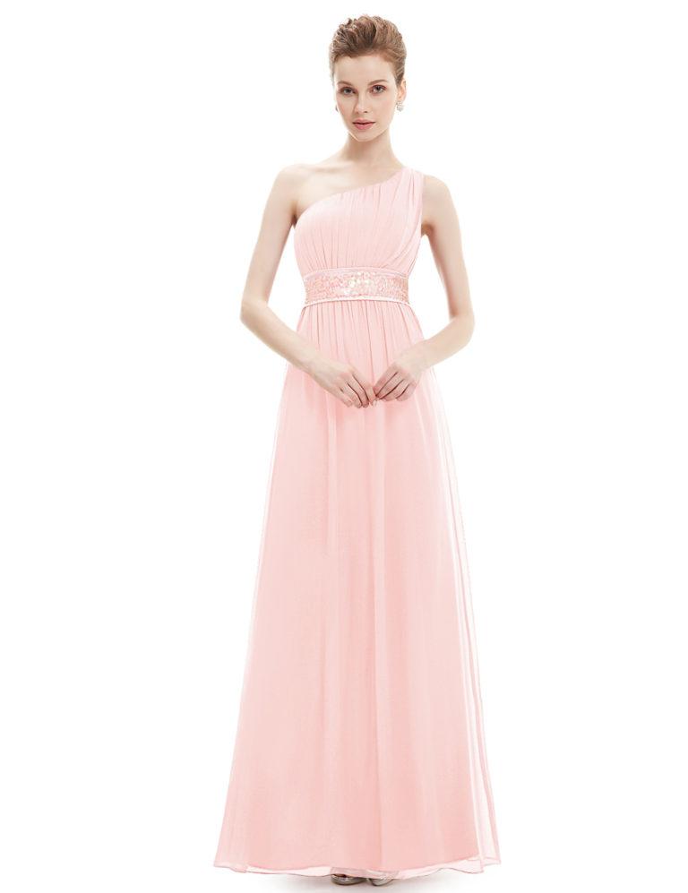 Společenské šaty dlouhé, světle růžové