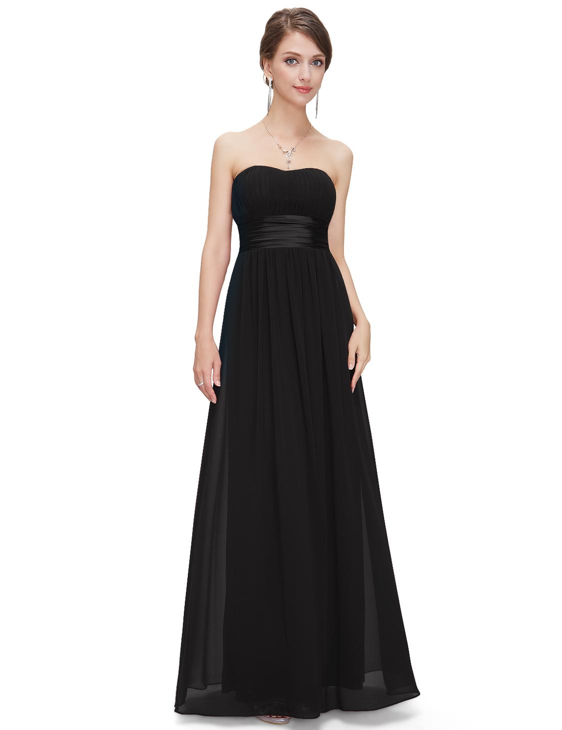 Společenské šaty dlouhé, černé