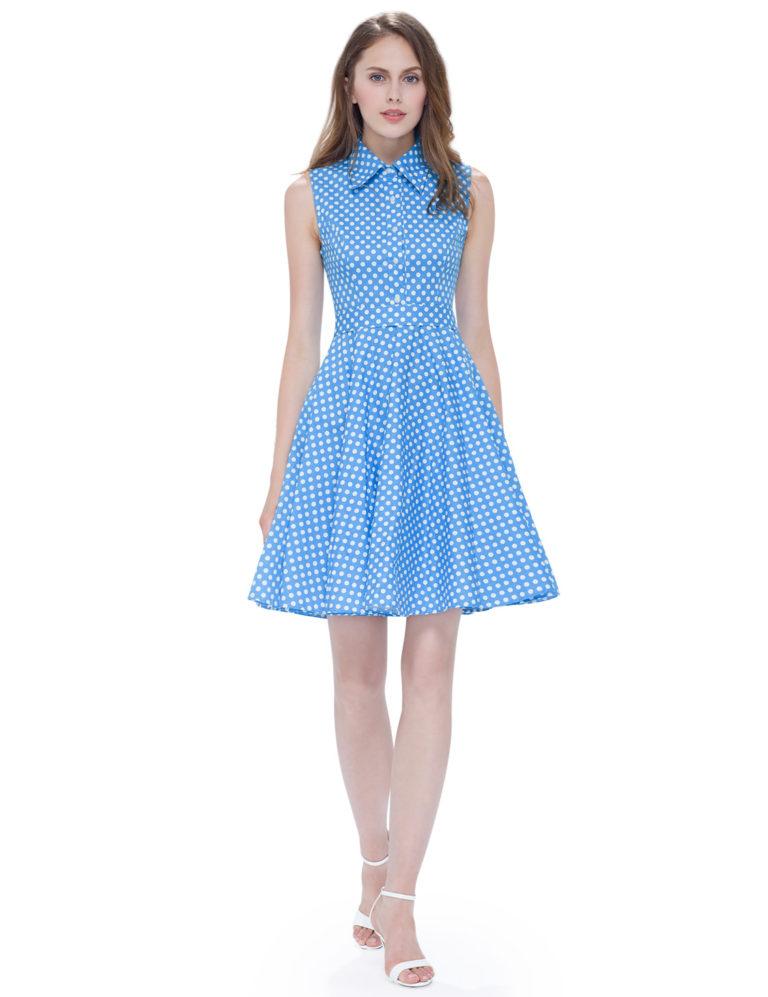 Letní šaty krátké, modré