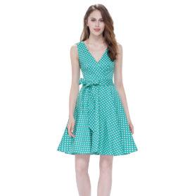 Letní šaty krátké, zelené