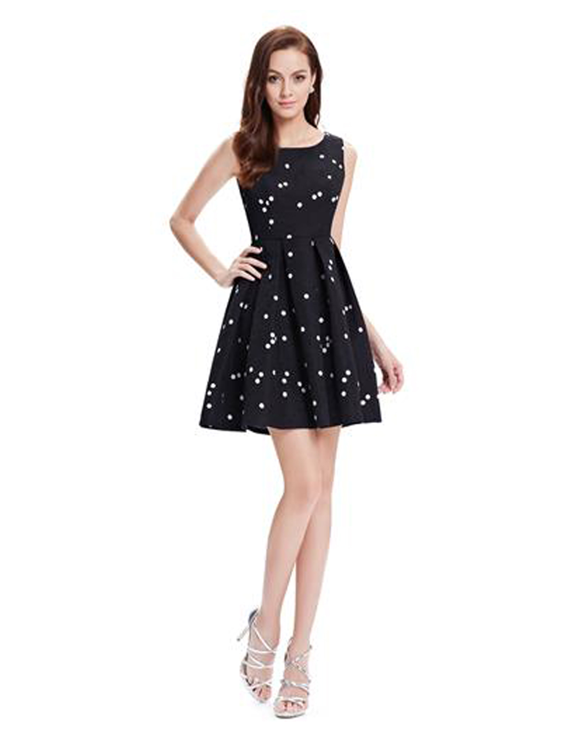 Společenské šaty krátké, černobílé