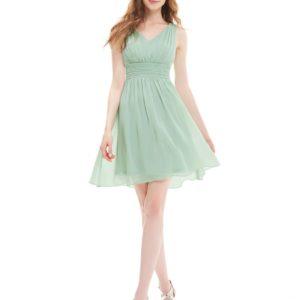 Společenské šaty krátké, zelenkavé