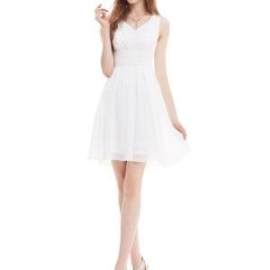 Společenské šaty krátké, bílé