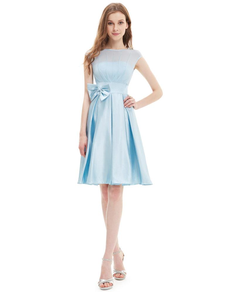 Společenské šaty krátké, světle modré