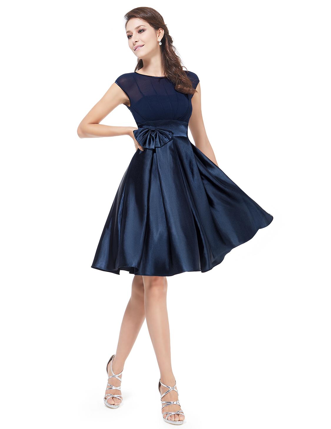 Společenské šaty krátké, námořnicky modré