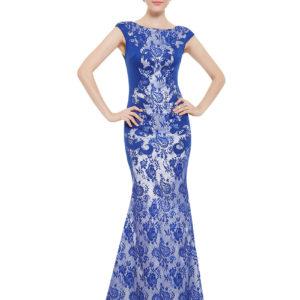 Společenské šaty dlouhé, královsky modré