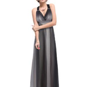 Společenské šaty dlouhé, šedé